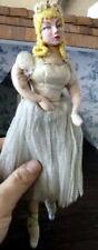 Vintage OOAK Clay Head Ballerina Cloth Doll