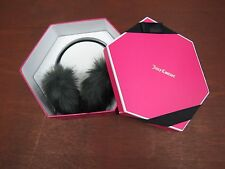 Juicy Couture Faux Fur earmuffs with headphones in gift box new $98