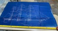 Vintage Ships Plan 1850 Clipper Ship Staghound 2 large sheets by GB Douglas 1922