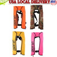 New Adult Automatic Inflation Life Jacket Manual Inflatable 150N PFD Survival US