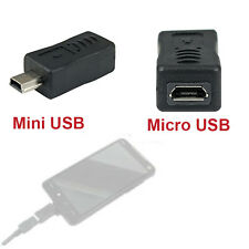 New Micro USB Female to Mini USB Male Adapter Charger Converter Adaptor