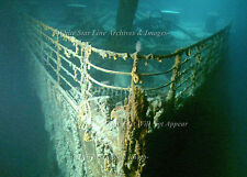 """Photo: 5"""" x 7"""": Titanic's  Bow On The Sea Floor: Wide Field View"""