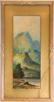 A.E. Bailey - Gilt Framed Mid 20th Century Watercolour, Mountain Landscape