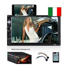 """7"""" 2 DIN AUTORADIO MP5 MP3 LETTORE AUTO STEREO RADIO USB AUX BLUETOOTH HANDSFREE"""
