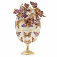 Jay Strongwater Sunset - Butterfly Egg Objet Figurine 14K gold  SDH7332-230  NEW