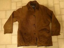 BARBOUR JACKET WAX OILSKIN SZ M MEN SPORT HUNTING FISHING RIDING WESTERN BROWN