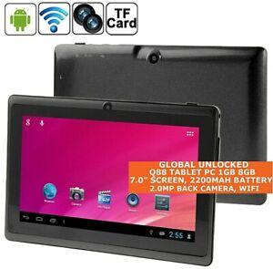 Q88 TABLET PC 8gb ALLWINNER A33 Quad Core 7.0 Inch Bluetooth Wi-Fi Android OTG