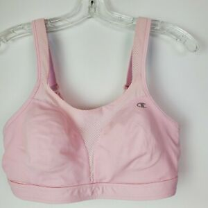 Champion Womens Athletic Double Dry Pink Seamless Sports Bra 36C Yoga Running