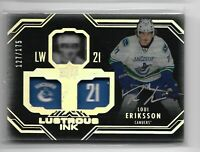 2016-17 Upperdeck UD Black hockey Lustrous Ink Loui Eriksson Silver Ink /175