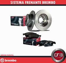 KIT DISCHI FRENO + PASTIGLIE BREMBO FIAT STILO 1,9 JTD 59/74/85/88 KW POSTERIORI