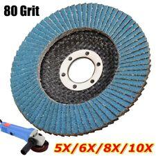 80GRIT 4.5'' Grit Flap Sanding Grinding Disc Angle Grinder Wheel Zirconium Oxide