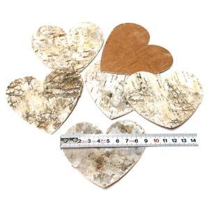 12 Pieces Big Birch Heart 9x9cm, Scattering Hearts, Birch, Bark