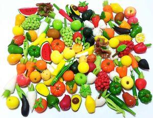 100 Dollhouse Miniature Mixed Fruit & Vegetable*Doll Mini Food Wholesale Lot b27
