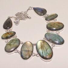 Amazing Labradorite Silver Necklace 95 Gms