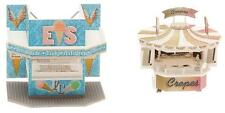 NEW HO Faller Circus / Fair Concession Booths (2) Ice Cream & Crepes KIT 140442
