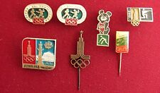 7 Russia Soviet Union USSR Moscow 1980 Olympic Games Sport Pin Badge Set Lot