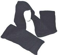 Knit Hood Scarf Black