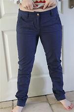 pantaloni chino blu KANABEACH bérangère NUOVO CON ETICHETTA valore