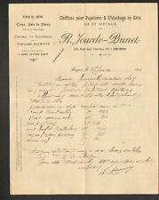 """ANGERS (49) CHIFFONS & EFFILOCHAGES , OS & METAUX """"R. JOURDE - PRUNET"""" en 1911"""