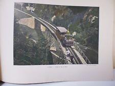 Suisse: Gravure 19° in folio couleur /Chemin de fer du Righi