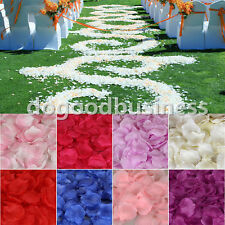 600pcs Silk Rose Flower Petals Leaves Wedding Party Table Confetti Decorations