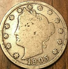 1905 USA 5 CENTS LIBERTY