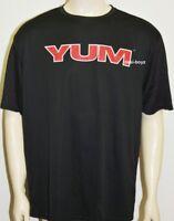 Brand New - Mens Graphic T-Shirt YUM Tee Black, Size:  XL