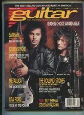Guitar  Mar.1990 Satriani Queensryche Metallica Lita Ford Rolling Stones MBX107