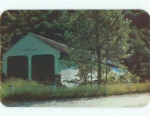 Unused Pre-1980 COVERED BRIDGE Grafton West Virginia WV d3351