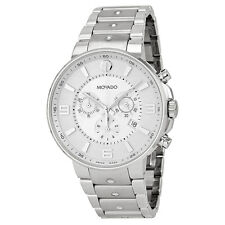 Movado SE Pilot Silver Dial Chronograph Stainless Steel Mens Watch 0606760