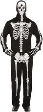 Cuerpo de impresión Huesos Esqueleto Con capucha Traje de Halloween Vestido de fantasía Traje Tamaño XL P7747