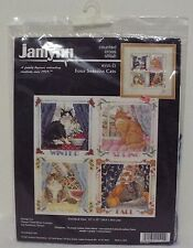Janlynn Counted Cross Stitch Kit Four Seasons Cats #155-12 1997 Sudberry House