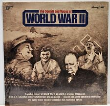 THE SOUNDS & VOICES OF WORLD WAR II   Double Vinyl LP   NEW / SEALED