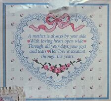 "Vintage Dimensions Stamped Cross Stitch Kit  A MOTHER'S LOVE 12""X 11""  NIP"