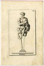 Antique Print-STATUE-FAUN-GRAPES-MYTHOLOGY-Houzeau-Thomassin-1695