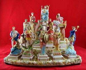 12 Olympian gods Set Statues, Greek Pantheon colour NO base free shipping