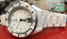 Traum in weiß: Damenuhr Funkuhr aus weißem Keramik 37mm Durchmesser gut lesbar