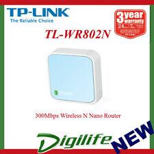 TP-Link TL-WR802N Wireless N 300Mbps Nano Router Portable WIFI USB Mini AP