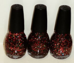3 Bottles Of Sinful Colors Professional Nail Enamel Nail Polish HOLIDAY SPACE