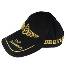 Breitling Luxury 130th Anniversary Black And Gold Cap Hat Very Rare