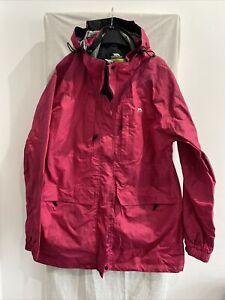 TRESPASS TRES-TEX Pink Waterproof Hooded Coat Size UK XXL