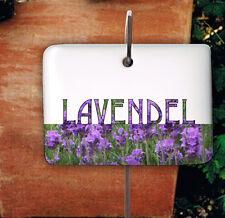 Lavendel Kräuterschild Kräuterstecker Porzellan Etikett