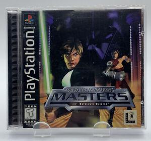 Star Wars Masters Teras Kasi Sony Playstation Complete Black Label NTSC CIB PS1