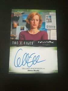 X Files Trading Card A-ga Signed By gillian anderson Upper Deck Autograph