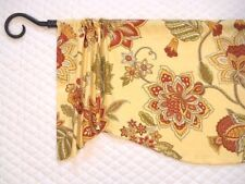 MN~FRENCH COUNTRY~Jacobean Floral Valance~Red~Yellow~Green~Window~Topper~Curtain