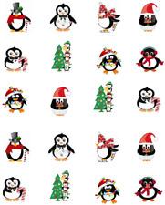 Christmas Penguins Waterslide Nail Decals/Nail art