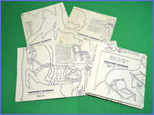 Vintage 1956 Hobbycraft Blueprints #1 - 4 Woodworking project patterns