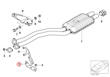 BMW 5' Series E39 Bracket Pipe (Front)
