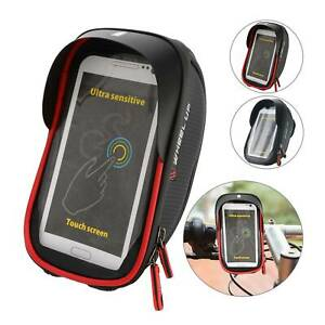 Handlebar Phone Bike Case Pouch Cover 6in Waterproof Bicycle Mount Holder Bag