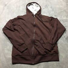 TULTEX THERMAL LINED VTG 80s Full Zip Made in USA HOODIE Sweatshirt Soft 2XL T